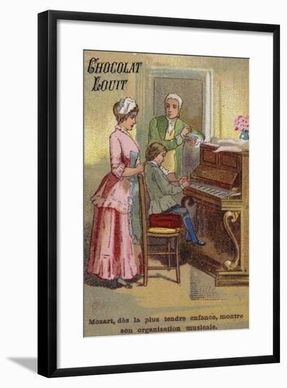 The Very Young Mozart Displaying His Musical Talents--Framed Giclee Print