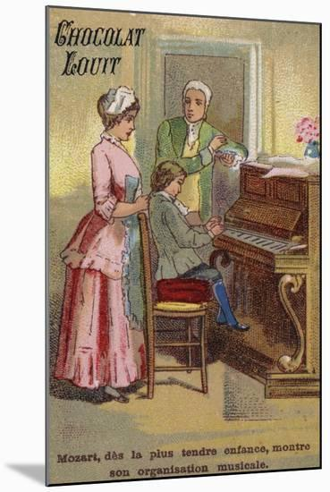 The Very Young Mozart Displaying His Musical Talents--Mounted Giclee Print