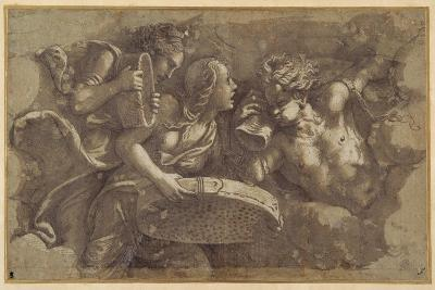 The Vestal Tuccia with the Sieve-Giulio Romano-Giclee Print