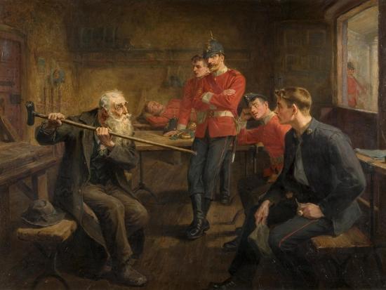 The Veteran, 1896-Ralph Hedley-Giclee Print