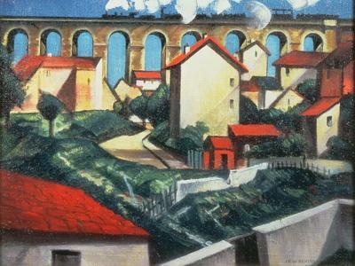 The Viaduct-Christopher Richard Wynne Nevinson-Giclee Print