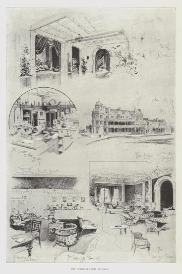 The Viceregal Lodge at Simla-Joseph Holland Tringham-Giclee Print