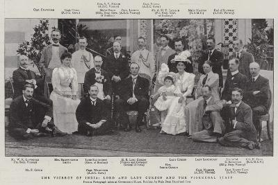 The Viceroy of India, Lord and Lady Curzon and the Vigeregal Staff--Giclee Print