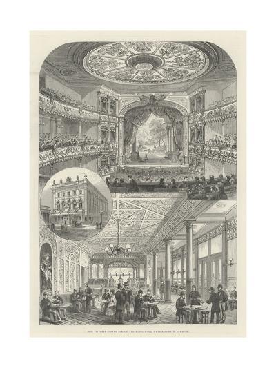 The Victoria Coffee Palace and Music Hall, Waterloo-Road, Lambeth--Giclee Print