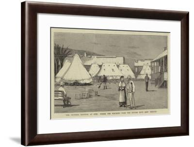 The Victoria Hospital at Suez, Where the Wounded from the Soudan Have Been Treated-Joseph Nash-Framed Giclee Print