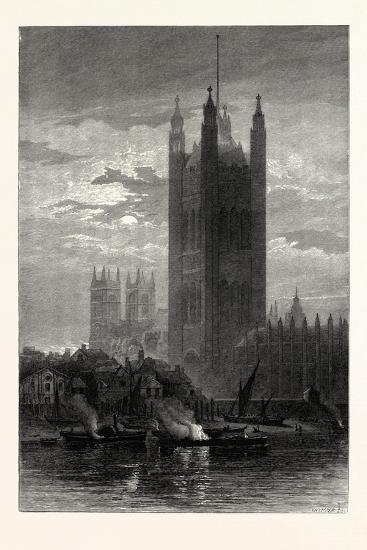 The Victoria Tower, from Lambeth, London, UK--Giclee Print