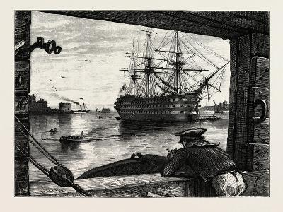 The Victory, Nelson's Ship. Horatio Nelson, 1st Viscount Nelson, British Admiral--Giclee Print