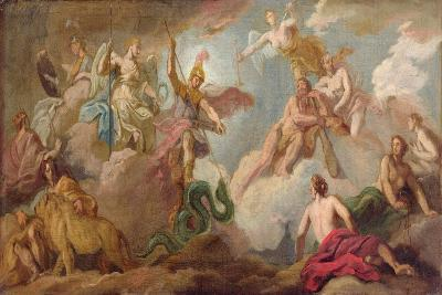 The Victory of Apollo, C.1716-Sir James Thornhill-Giclee Print