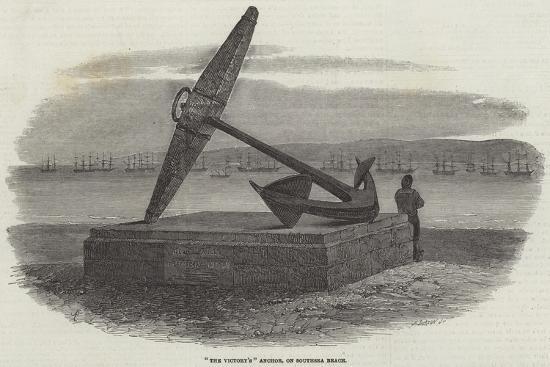 The Victory'S Anchor, on Southsea Beach-Samuel Read-Giclee Print