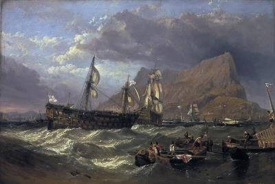 The 'Victory' Towed into Gibraltar, 1854-Clarkson Stanfield-Giclee Print