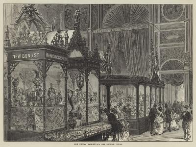 The Vienna Exhibition, the English Court--Giclee Print