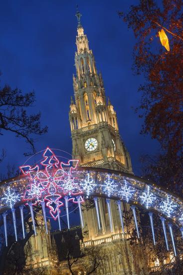 The Viennese Christmas Market, Vienna, Austria.-Jon Hicks-Photographic Print