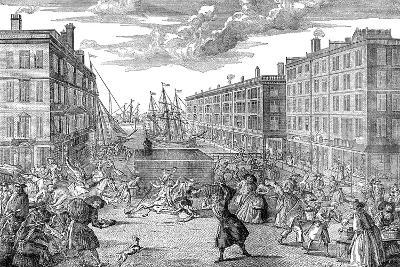 The View and Humours of Billingsgate,1736--Giclee Print
