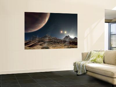 The View from a Hypothetical Moon in Orbit--Wall Mural