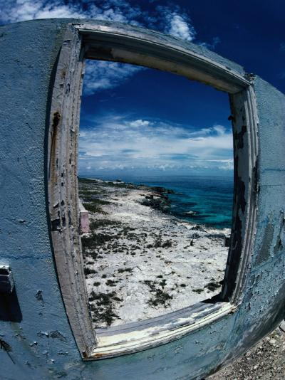 The View from the Abandoned Lighthouse at Cay Sal Bank, Bahamas-Greg Johnston-Photographic Print