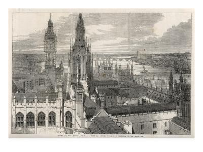 The View from the Victoria Tower of the Houses of Parliament, London--Giclee Print