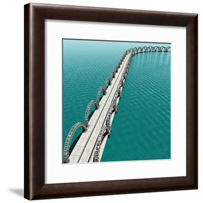 The View of Old Bridge for Adv or Others Purpose Use- NH-Framed Premium Giclee Print