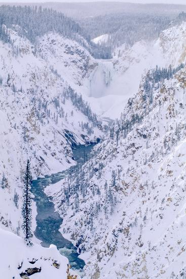 The View of the Lower Falls of the Yellowstone from Artist Point-Tom Murphy-Photographic Print