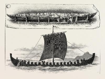 The Viking's Ship--Giclee Print
