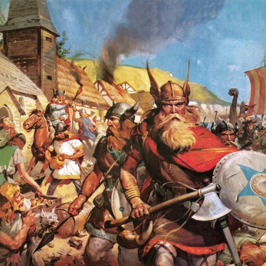 The Vikings: the Sea-Warriors-English School-Giclee Print