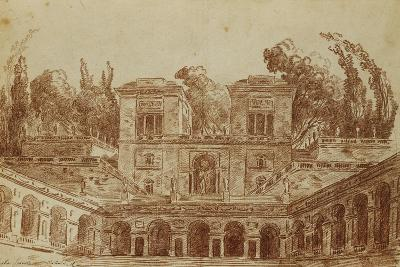 The Villa Farnese, Rome-Hubert Robert-Giclee Print