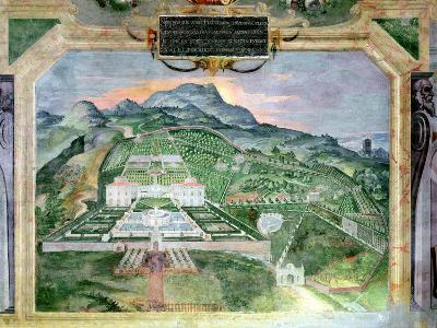 The Villa Lante, Fresco in the Loggia, c.1574-76- Raffaellino Da Reggio-Giclee Print