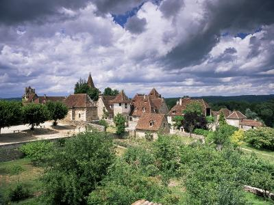 The Village Amidst the Verdant Surroundings of the Dordogne Valley, Midi-Pyrenees, France-Ruth Tomlinson-Photographic Print