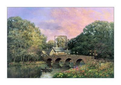 The Village Bridge-Alexander Sheridan-Art Print