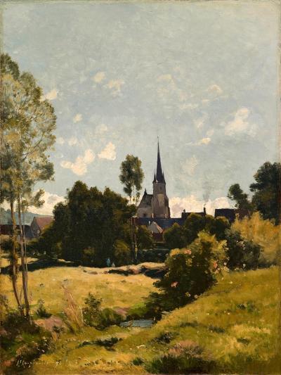 The Village Church, 1891-Henri-Joseph Harpignies-Giclee Print