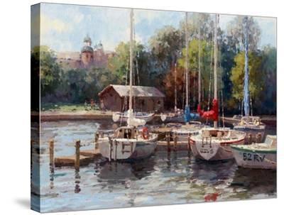 The Village Dock-Furtesen-Stretched Canvas Print