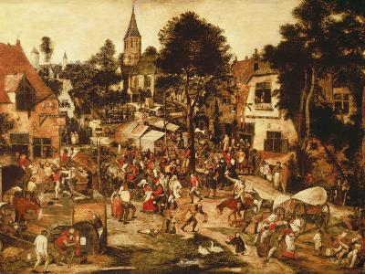 The Village Fair-Pieter Brueghel the Younger-Giclee Print