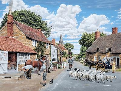The Village Farrier-Trevor Mitchell-Giclee Print
