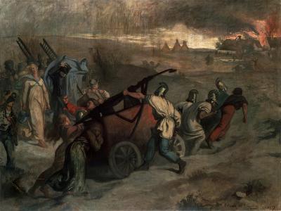 The Village Firemen, 1857-Pierre Puvis de Chavannes-Giclee Print