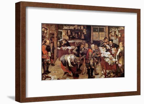 The Village Lawyer, 1621-Pieter Brueghel the Younger-Framed Giclee Print