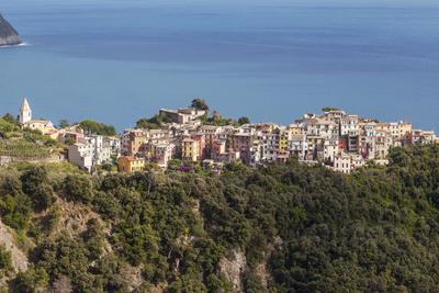 The Village of Corniglia in the Cinque Terre, UNESCO World Heritage Site, Liguria, Italy, Europe-Julian Elliott-Photographic Print
