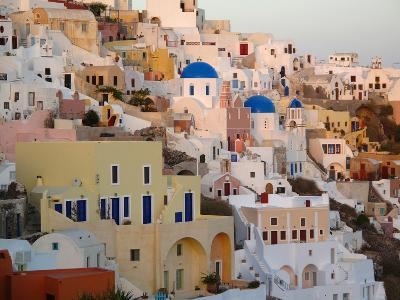 The Village of Ia, Built Into the Cliffs and Hillsides of Santorini-Charles Kogod-Photographic Print