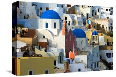The village of Oia by day--Stretched Canvas Print
