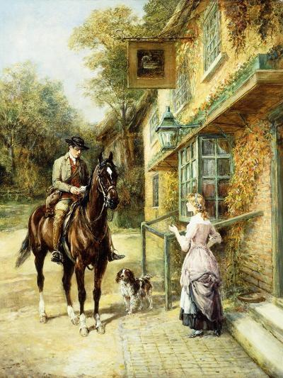 The Village Postman-Heywood Hardy-Giclee Print