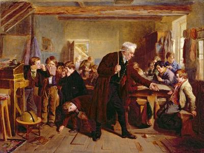 The Village School, 1857-William Henry Knight-Giclee Print