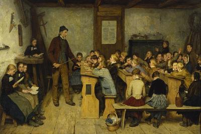 The Village School-Albert Anker-Giclee Print