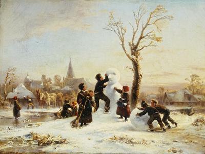 The Village Snowman, 1853-Wilhelm Alexander Meyerheim-Giclee Print