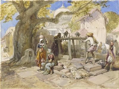 The Village Well, 1864-William 'Crimea' Simpson-Giclee Print