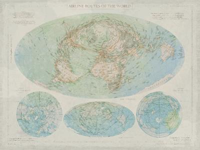 Airline Routes of the World by The Vintage Collection