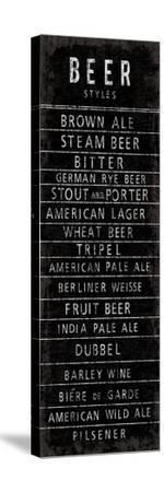 Beer Styles - Blackboard