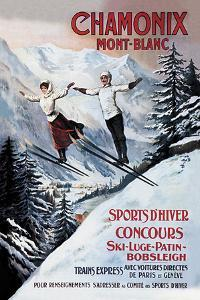 Chamonix Mont-Blanc, Skiing by The Vintage Collection