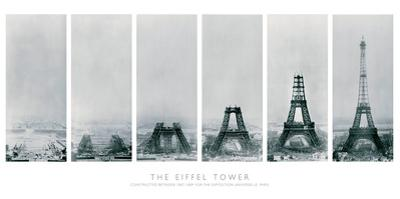 Construction of the Eiffel Tower by The Vintage Collection