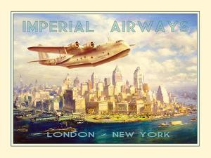 Imperial Airways - London to New York by The Vintage Collection