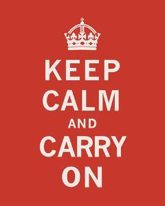Keep Calm And Carry On II by The Vintage Collection