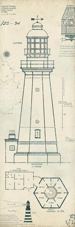 Lighthouse Plans IV by The Vintage Collection