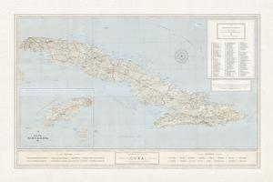 Beautiful Maps Of Cuba Artwork For Sale Posters And Prints Artcom - Vintage map of cuba